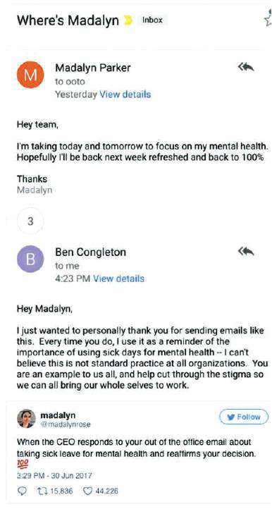 mental health email shared round the world san antonio express